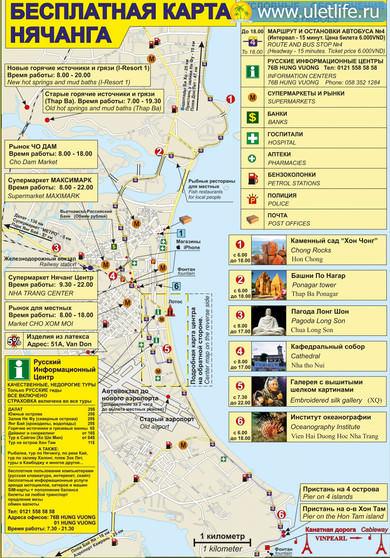 Карта нячанга на русском языке