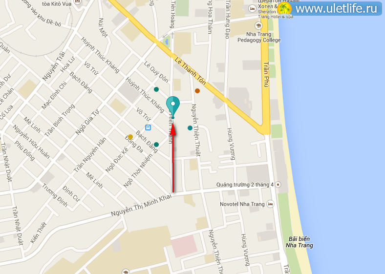 Карта магазина LyLy  в Нячанге
