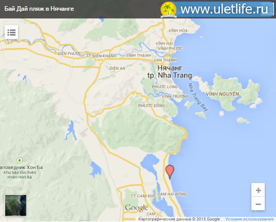 Пляж Бай Зай на карте