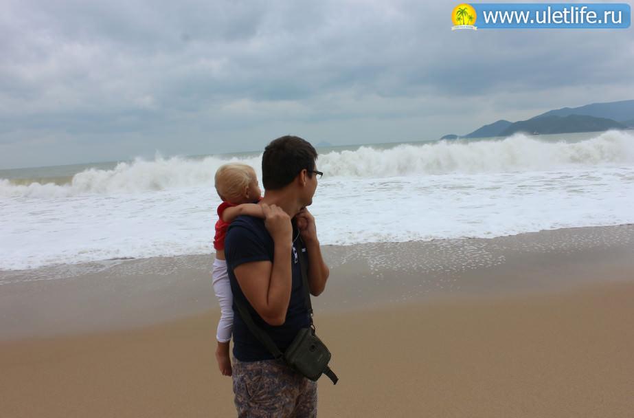 Пляжи Нячанга волна